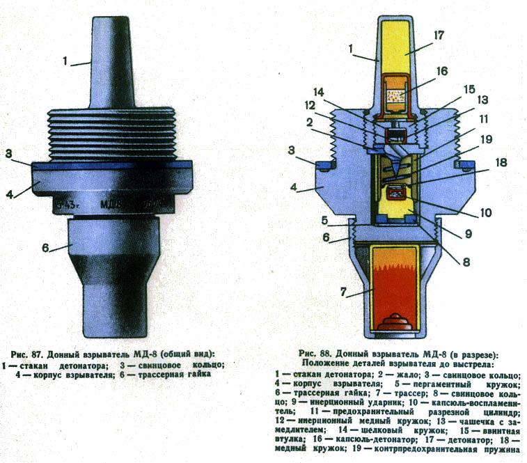Взривател дънен МД-8