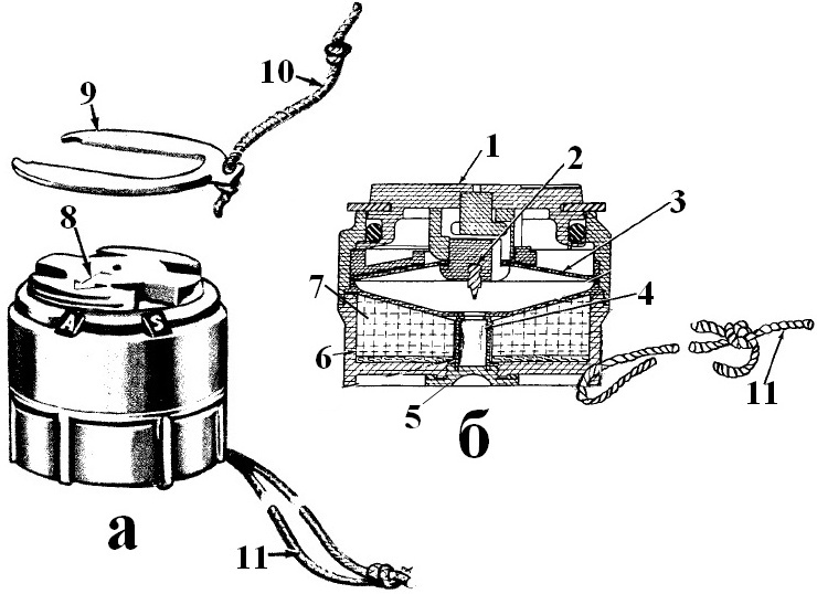 Американска противопехотна мина М14 - схема